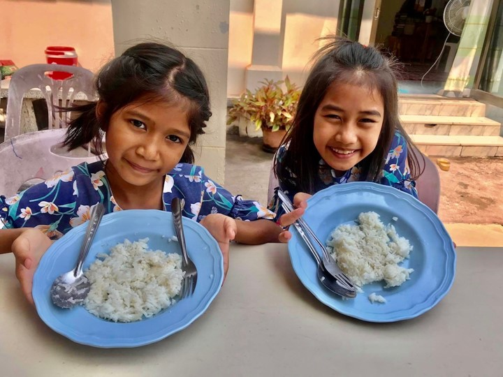 Girls with Rice